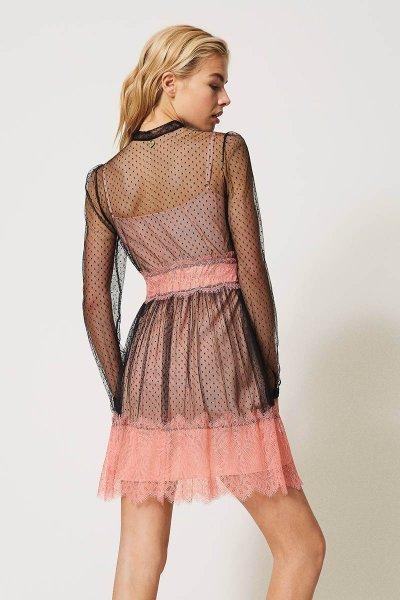 Vestido TWINSET De Tul Y Encaje 202TP2201