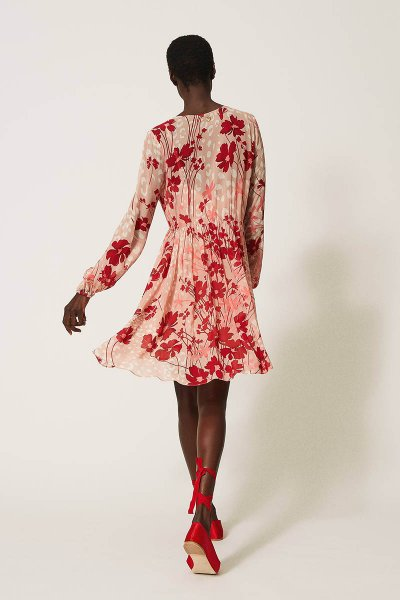 Vestido TWINSET De Georgette Con Flores 202TP2522