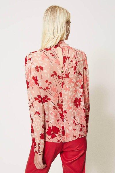 Blusa TWINSET De Flores De Georgette 202TP2524