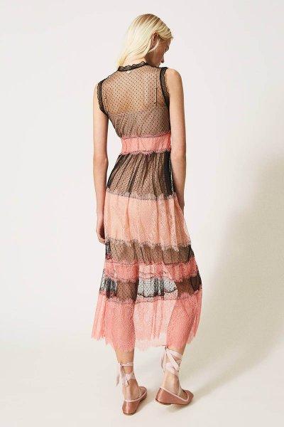 Vestido TWINSET Largo De Tul Con Encaje 202TP2202
