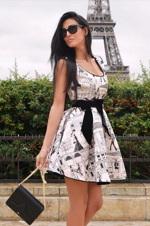 Vestido ELISABETTA FRANCHI Estampado Vuelo AB05876E2