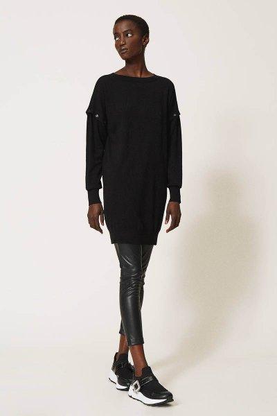 Vestido TWINSET De Punto Con Mangas Desmontables 202MP3032