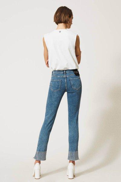 Jeans TWINSET Push Up Con Tachuelas 202MP2192