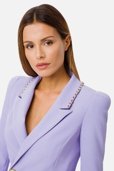 Vestido ELISABETTA FRANCHI Abrigo Con Anillas AB04611E2