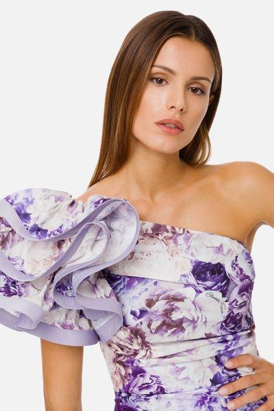Vestido ELISABETTA FRANCHI Estampado Peonías AB03111E2