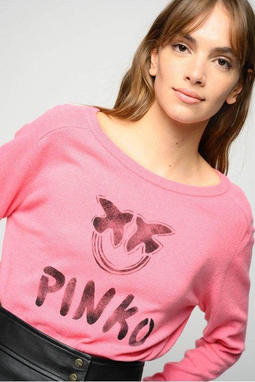 Jersey PINKO Scuderia Rosa Estampado YG1602Y727