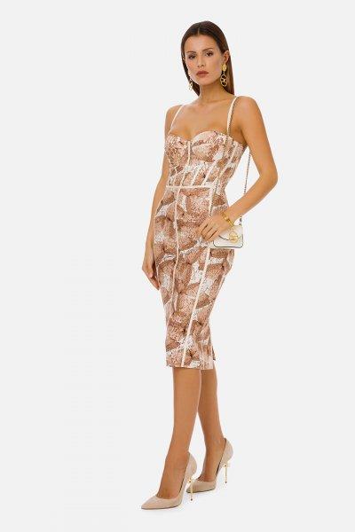 Vestido ELISABETTA FRANCHI Tubo Estampado Mariposas AB07111E2