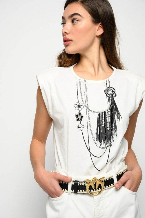 Camiseta PINKO Mistico Hombreras IG15XTY73Y