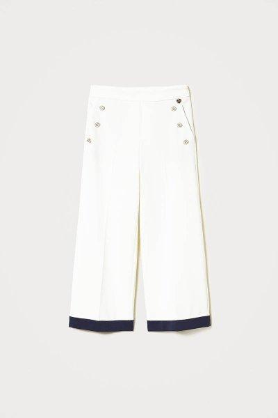 Pantalón TWINSET Ancho Con Incrustaciones 211TT2031