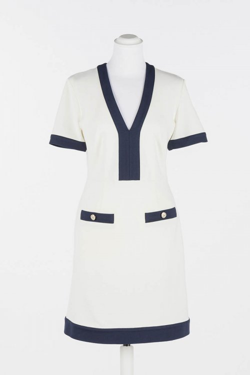 Vestido TWINSET Blanco Vivos 211TT2030