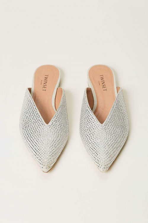 Slippers TWINSET Con Strass 211TCT090