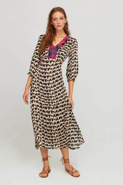 Vestido ALDO MARTINS Ofu Estampado Letras 8756