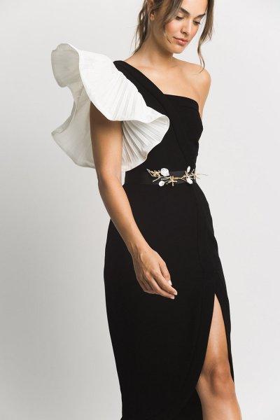 Vestido ALBA CONDE Volante Plisado 3405-850-11