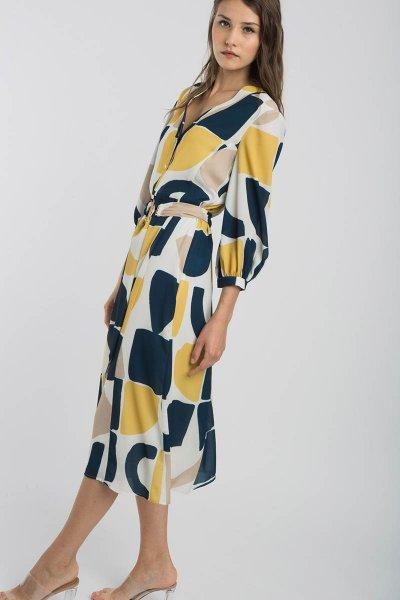 Vestido ALBA CONDE Amarillo Midi 149-129-47