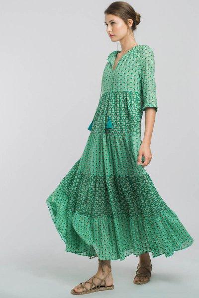 Vestido ALBA CONDE Largo Con Tulipanes 1426-325-22