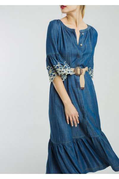 Vestido ALBA CONDE Largo Denim 2409-405-30