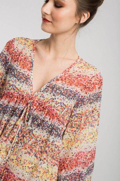 Blusa ALBA CONDE Naranja Mini Flores 1303-111-48