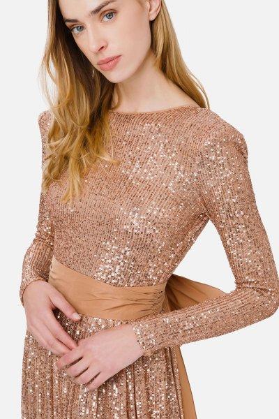 Vestido ELISABETTA FRANCHI Lentejuelas Lazo AB99911E2