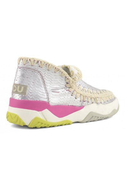 Trainer MOU Eskimo Special Leather Silver Pink MU.SW201000C SILPIN