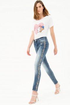Jeans FRACOMINA Tina Piedras Laterales FR21SP5020D44902