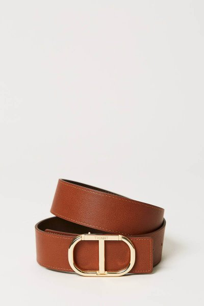 Cinturón TWINSET De Piel Con Logotipo 211TT5063