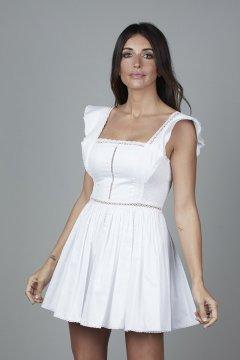 Vestido CARMEN HORNEROS Bolillo Blanco CHV2105-B
