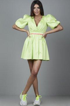 Vestido CARMEN HORNEROS Popelin Fluor Verde CHV2108-V