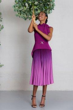 Vestido CARLA RUIZ Morado Efecto Dos Piezas 97521