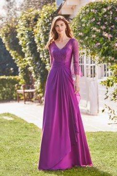 Vestido MARFIL COUTURE Largo Cuerpo Encaje 5G184