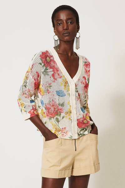 Cárdigan Jersey TWINSET Estampado Floral 211TT3141