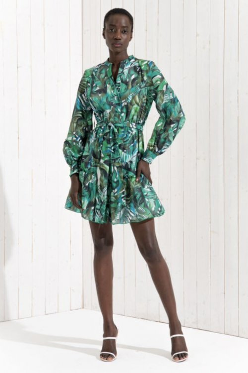 Vestido FRACOMINA Estampado Hojas FR21SD1031W405N4