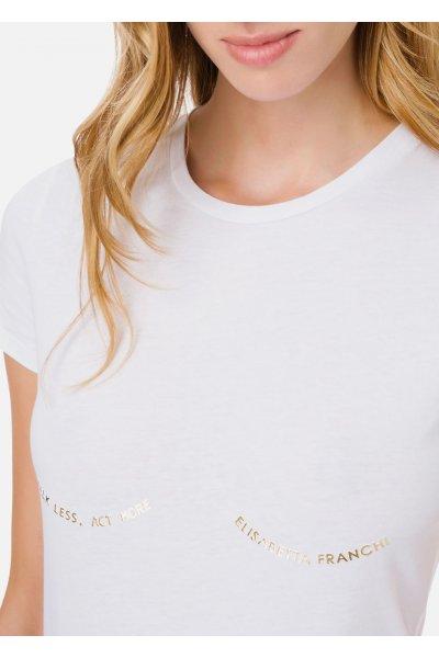 Camiseta ELISABETTA FRANCHI Inscripción Dorada MA20211E2
