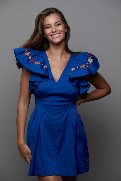Vestido MANGATA Azulón 2101-018