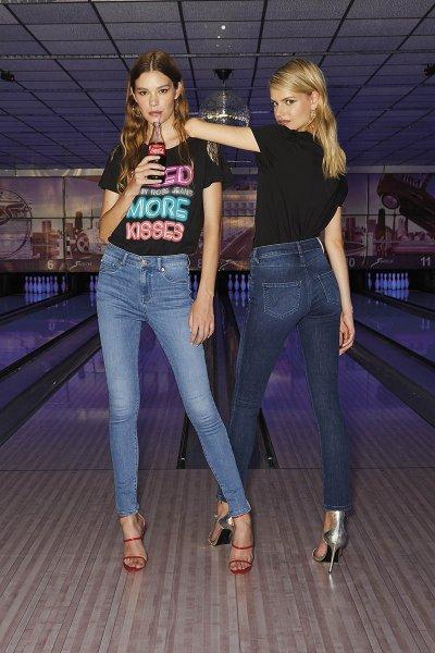 Camiseta DENNY ROSE Hombros Encaje 111ND64017