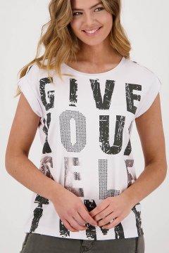 Camiseta MONARI Texto Strass 406020