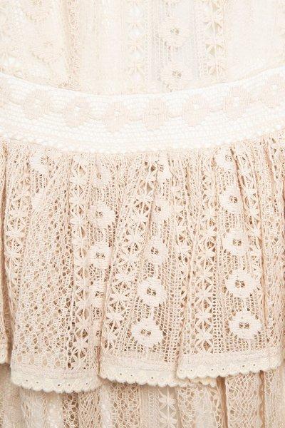 Vestido SPACE FLAMINGO Corto Crochet Beige SF-0121-090