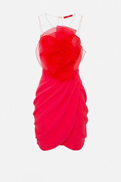 Vestido ELISABETTA FRANCHI Flor Organza AB11111E2