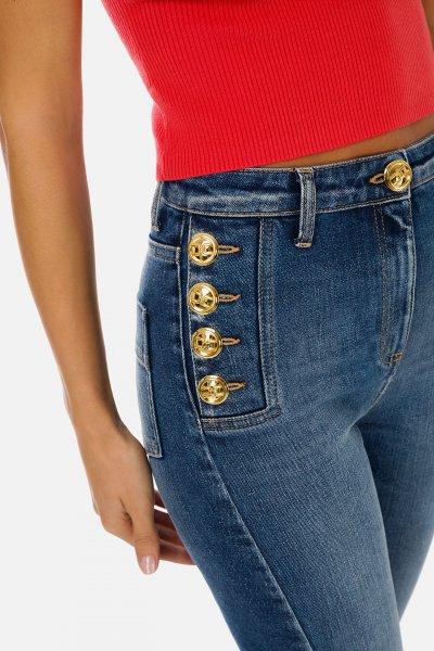Jeans ELISABETTA FRANCHI Elástico Botones Oro PJ02I11E2