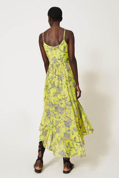 Vestido TWINSET De Muselina Con Estampado De Flores 211TT2560