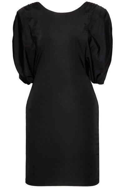 Vestido TWINSET Negro Con Hombreras 211MT2610