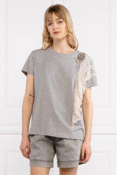 Camiseta TWINSET Con Encaje Y Parche Bordado 211MT2050