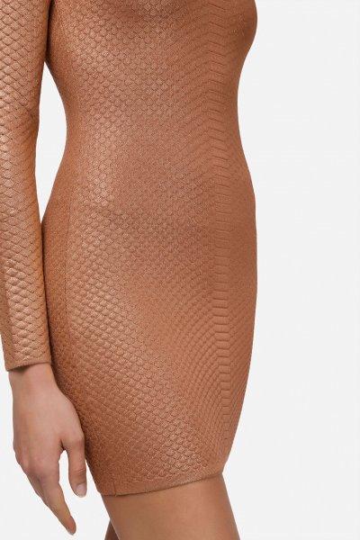 Vestido ELISABETTA FRANCHI Punto Efecto Serpiente AM52B11E2