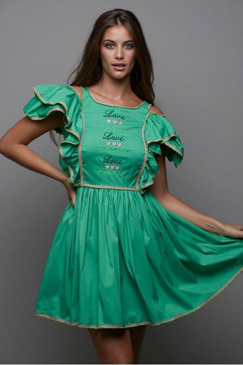 Vestido MANGATA Corto Verde