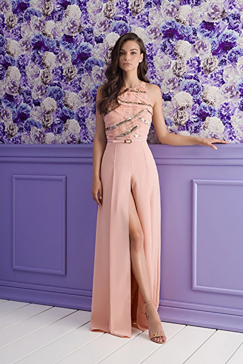 Vestido ELISABETTA FRANCHI Largo Cuerpo Lentejuelas AB14311E2