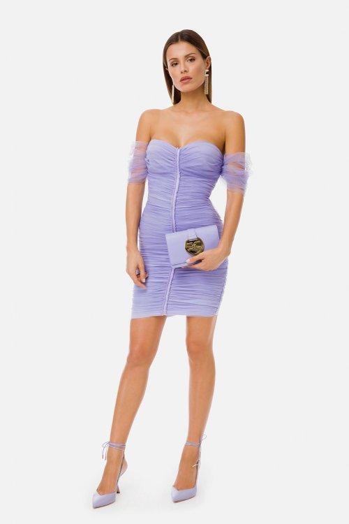 Vestido ELISABETTA FRANCHI Tul Drapeado AB06211E2