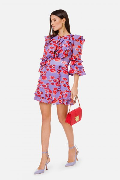 Vestido ELISABETTA FRANCHI Estampado Labios AB02513E2