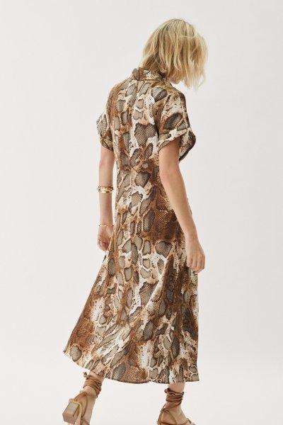 Vestido MAYTE BY LOLA CASADEMUNT Camisero Snake 42165002