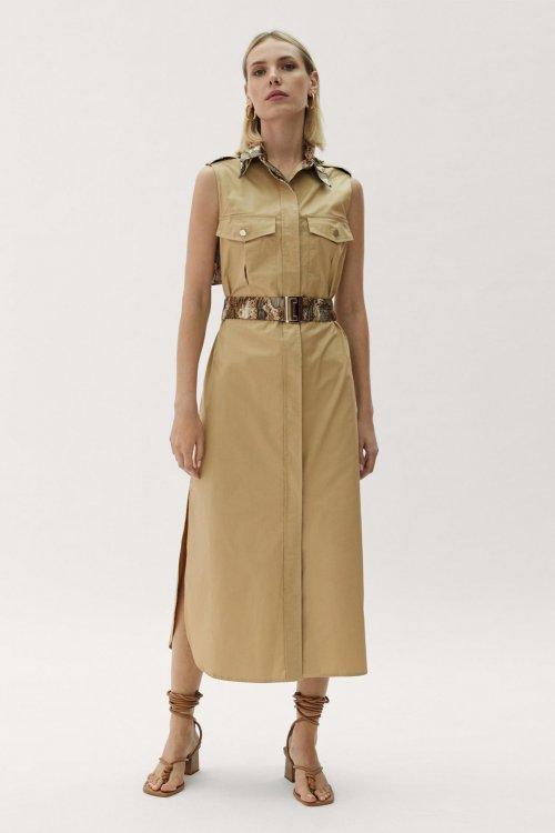 Vestido MAITE BY LOLA CASADEMUNT Camisero Cinturón Snake 42165003