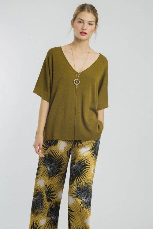 Camiseta ALBA CONDE De Punto Verde 2830-530-24