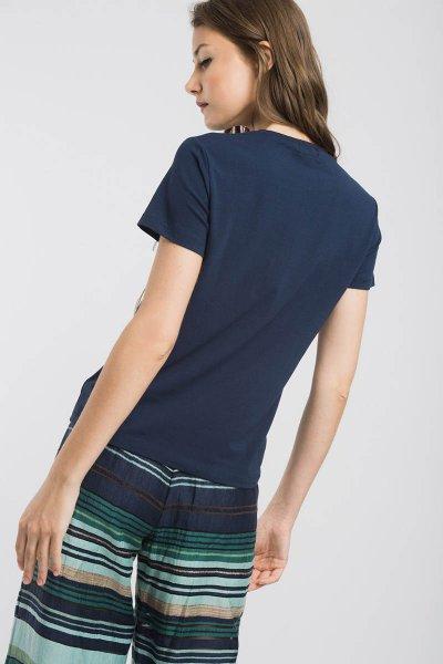 Camiseta ALBA CONDE Marino Texto 1830-218-30